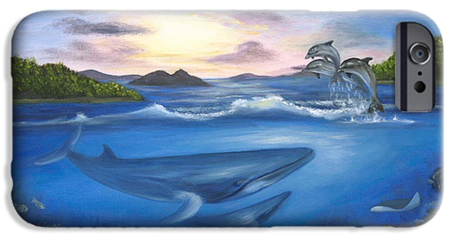 Landscape IPhone 6 Case featuring the painting Seaworld by Anne Kushnick