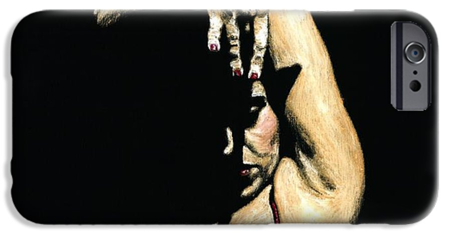 Flamenco IPhone 6 Case featuring the painting Seclusion Del Flamenco by Richard Young