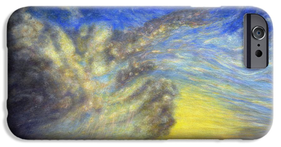 Coastal Decor IPhone 6 Case featuring the painting Secret Beach Sunset by Kenneth Grzesik