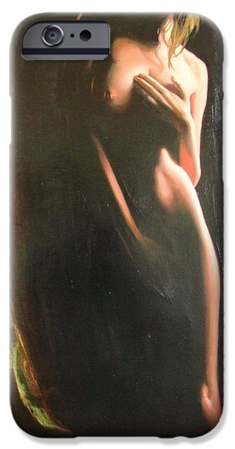 Art IPhone 6 Case featuring the painting Secrets by Sergey Ignatenko