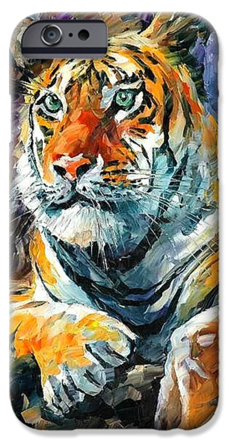 Painting IPhone 6 Case featuring the painting Seibirian Tiger by Leonid Afremov