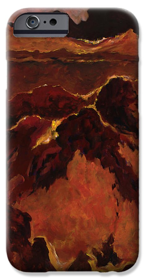 Abstract IPhone 6 Case featuring the painting Seismic Shift by Tara Moorman