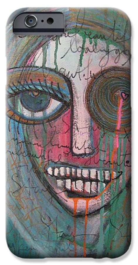 Self Portraits IPhone 6 Case featuring the painting Self Portrait Youre Beautiful by Laurie Maves ART