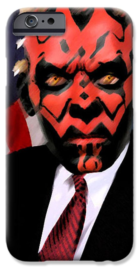 Star Wars IPhone 6 Case featuring the digital art Senator Darth Maul by Eric Forster