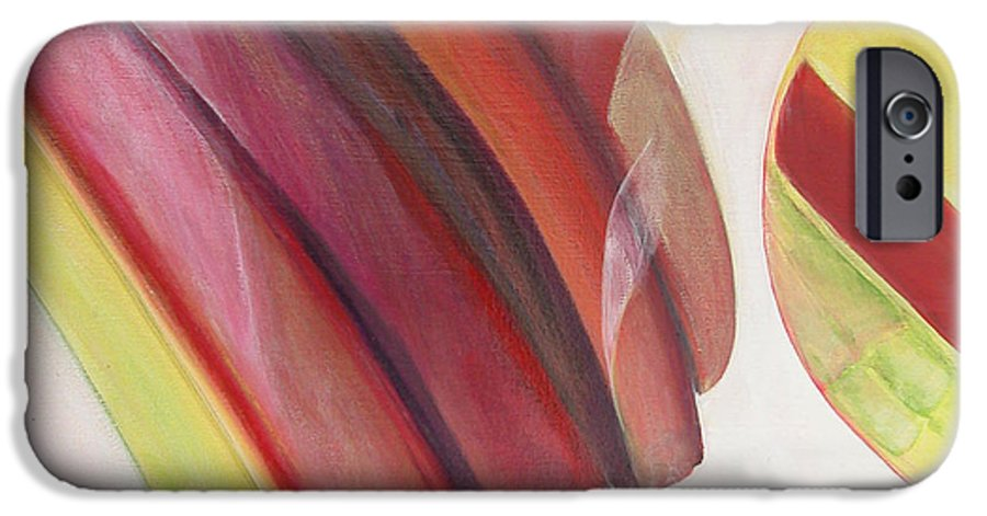 Abstract IPhone 6 Case featuring the painting Sens 3 by Muriel Dolemieux