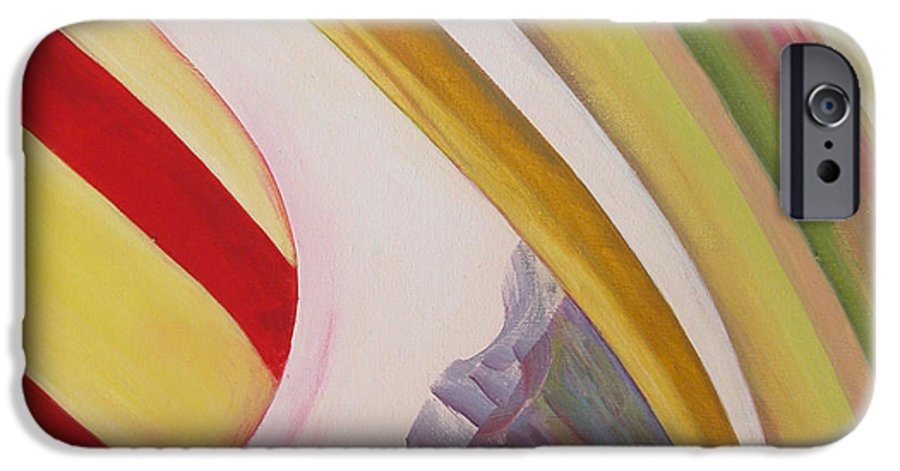 Abstract IPhone 6 Case featuring the painting Sens 4 by Muriel Dolemieux