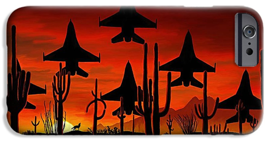 Fine Art IPhone 6 Case featuring the painting Sentinels by David Wagner