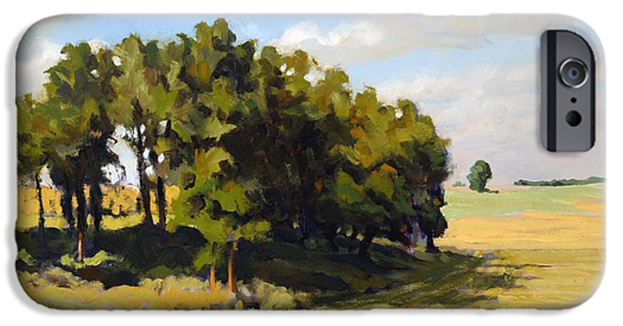 Landscape IPhone 6 Case featuring the painting September Summer by Bruce Morrison