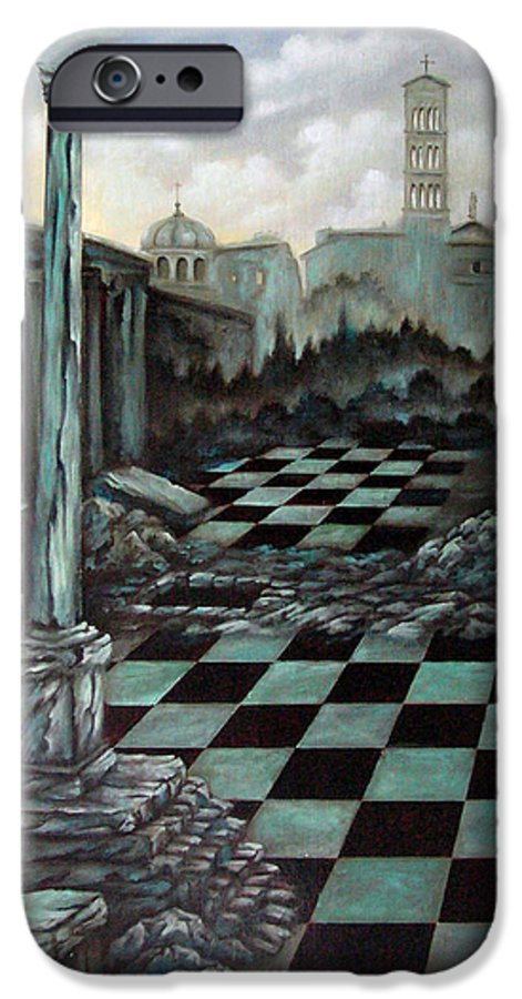 Surreal IPhone 6 Case featuring the painting Sepulchre by Valerie Vescovi