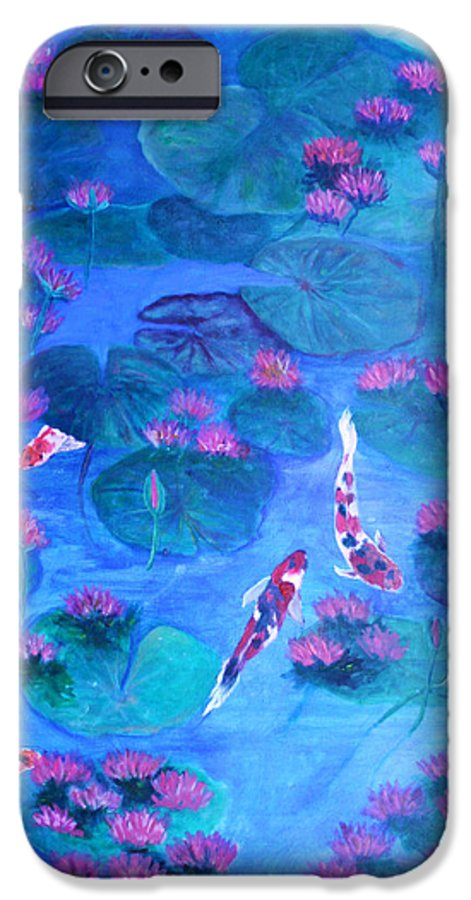 Lily Pads IPhone 6 Case featuring the painting Serene Pond by Ben Kiger