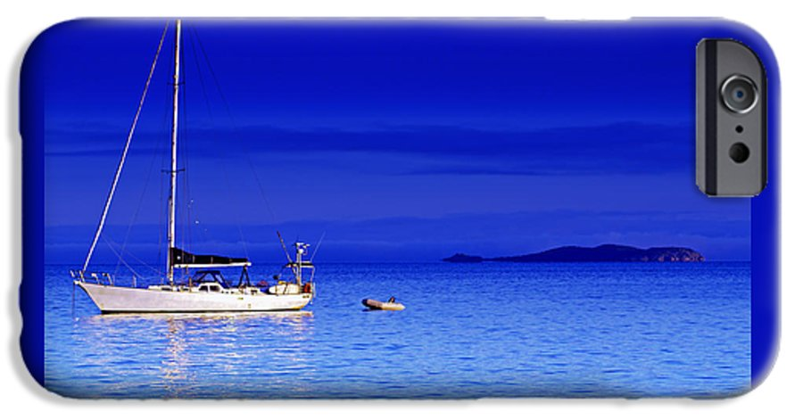 Transportation. Boats IPhone 6 Case featuring the photograph Serene Seas by Holly Kempe