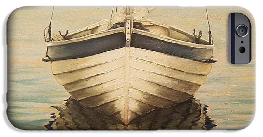 Seascape IPhone 6 Case featuring the painting Serenity by Natalia Tejera