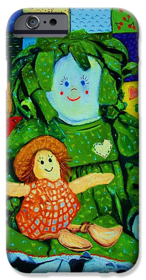 Dolls IPhone 6 Case featuring the print Sew Sweet by Melinda Etzold