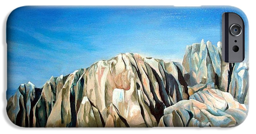 Paysage IPhone 6 Case featuring the painting Seychelles by Muriel Dolemieux