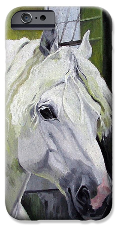 Horse IPhone 6 Case featuring the painting Shadowfax by Nel Kwiatkowska