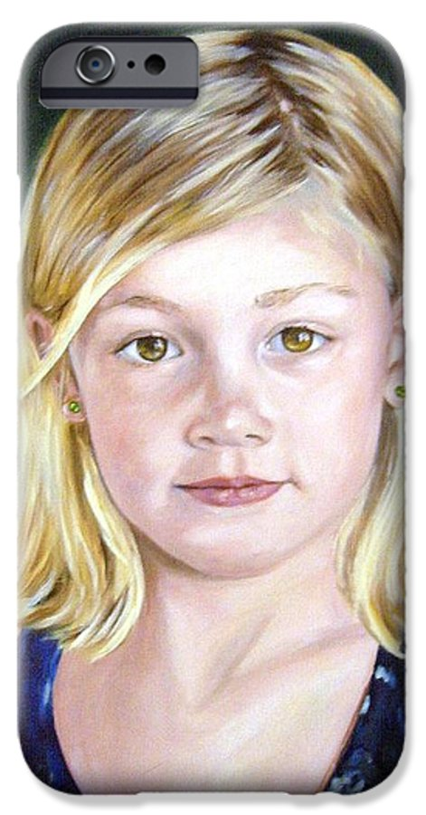 Portrait IPhone 6 Case featuring the painting Shannon by Anne Kushnick