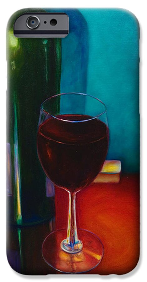 Wine Bottle IPhone 6 Case featuring the painting Shannon's Red by Shannon Grissom