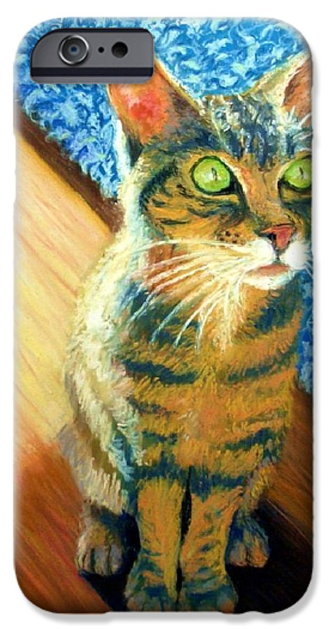 Cat IPhone 6 Case featuring the painting She Wants To Be Famous by Minaz Jantz