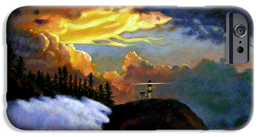 Ocean IPhone 6 Case featuring the painting Shelter From The Storm by John Lautermilch