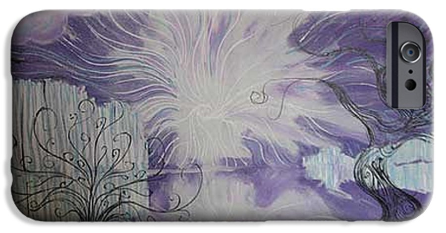 Squiggleism IPhone 6 Case featuring the painting Shore Dance by Stefan Duncan