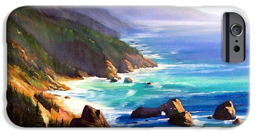 Seascape IPhone 6 Case featuring the painting Shore Trail by Frank Wilson