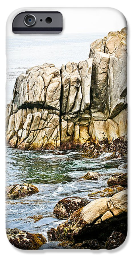 Pebble Beach IPhone 6 Case featuring the photograph Shores Of Pebble Beach by Marilyn Hunt
