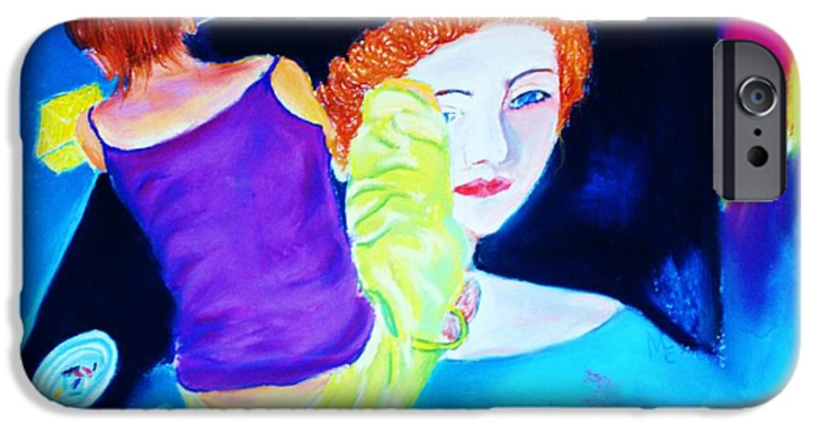 Painting Within A Painting IPhone 6 Case featuring the print Sidewalk Artist II by Melinda Etzold