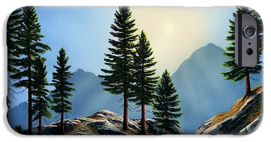 Landscape IPhone 6 Case featuring the painting Sierra Sentinals by Frank Wilson