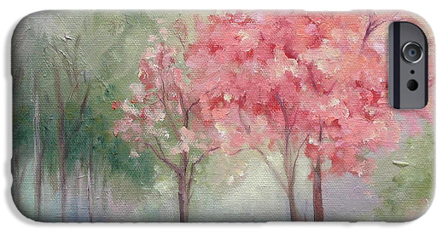 Spring IPhone 6 Case featuring the painting Sign Of Spring by Ginger Concepcion