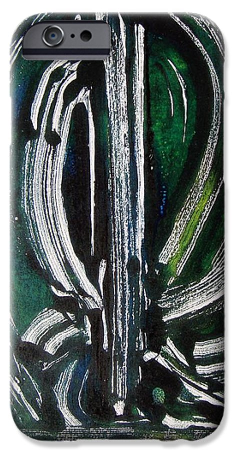 Abstract IPhone 6 Case featuring the painting Signe by Muriel Dolemieux