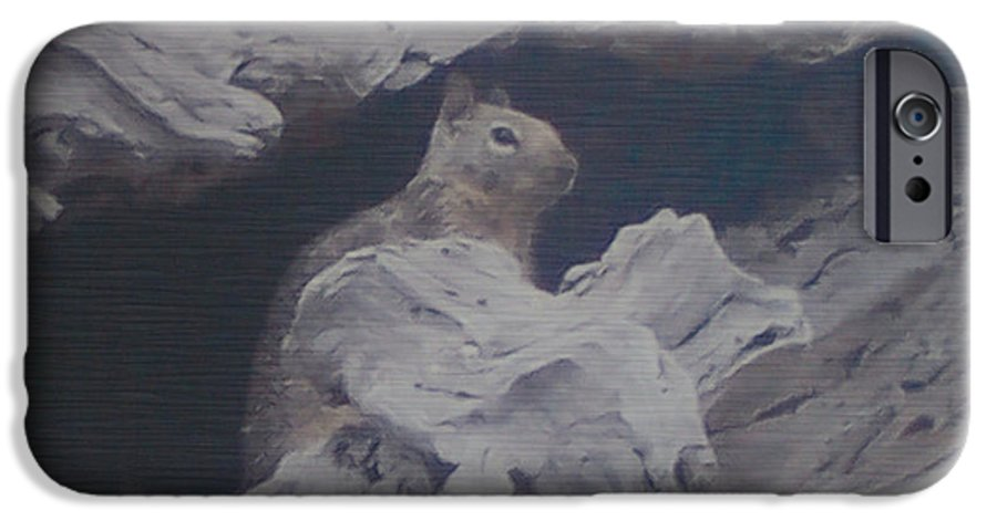 Squirrel IPhone 6 Case featuring the photograph Silent Observer by Pharris Art