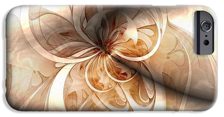 Digital Art IPhone 6 Case featuring the digital art Silk by Amanda Moore