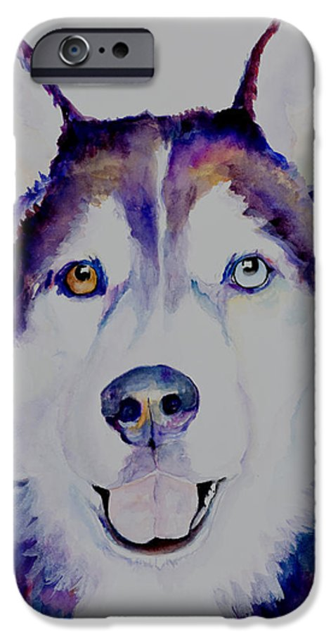 Siberian Husky IPhone 6 Case featuring the painting Simba by Pat Saunders-White