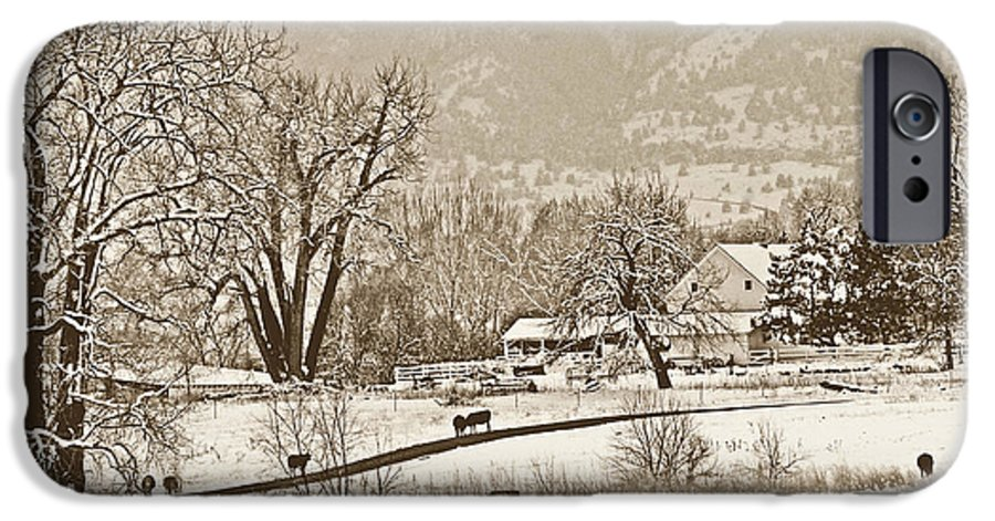 Landscape IPhone 6 Case featuring the photograph Simpler Times by Marilyn Hunt