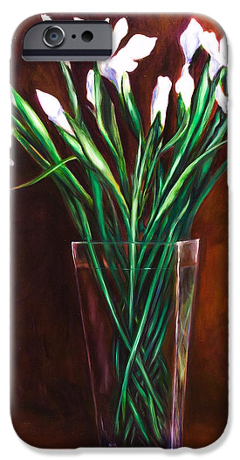 Iris IPhone 6 Case featuring the painting Simply Iris by Shannon Grissom