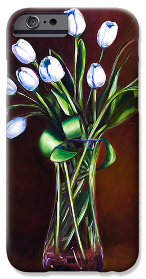 Shannon Grissom IPhone 6 Case featuring the painting Simply Tulips by Shannon Grissom