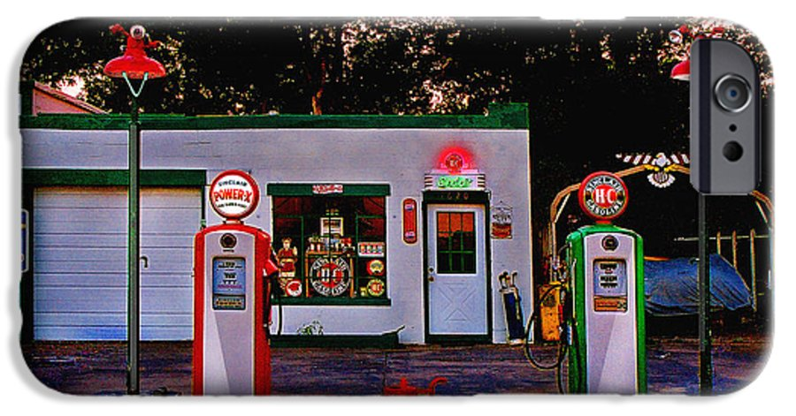 Gas Station IPhone 6 Case featuring the photograph Sinclair by Steve Karol