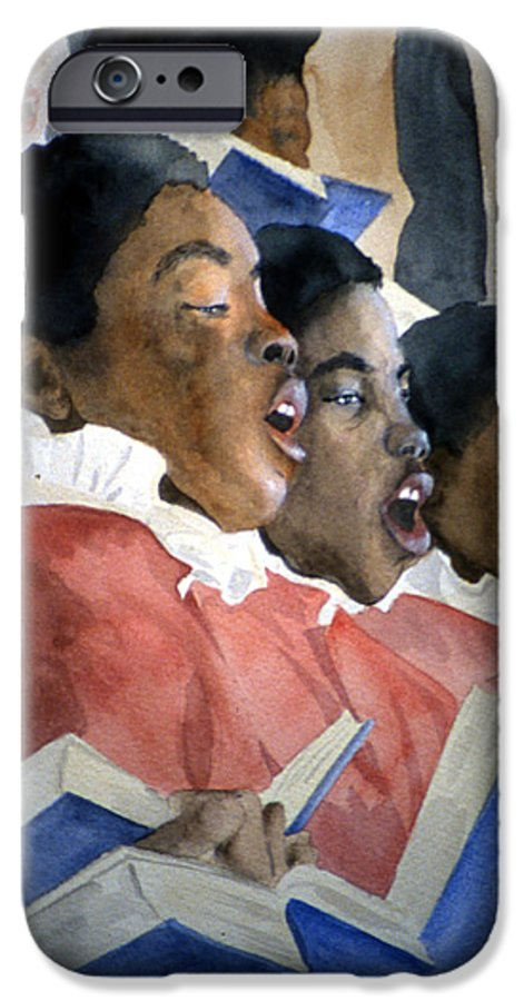 Choir IPhone 6 Case featuring the painting Sing Out Your Joy by Jean Blackmer