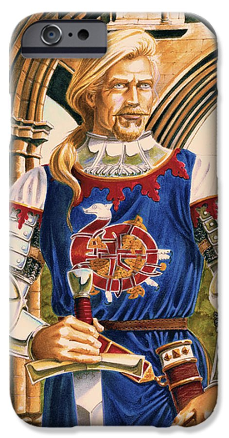 Swords IPhone 6 Case featuring the painting Sir Dinadan by Melissa A Benson