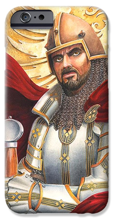 Swords IPhone 6 Case featuring the drawing Sir Gawain by Melissa A Benson