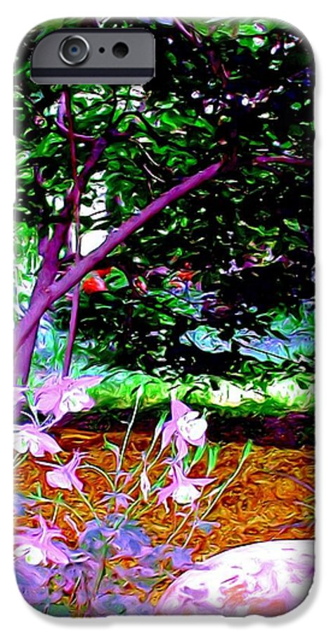 Fine Art IPhone 6 Case featuring the painting Sitting In The Shade by Patricia Griffin Brett