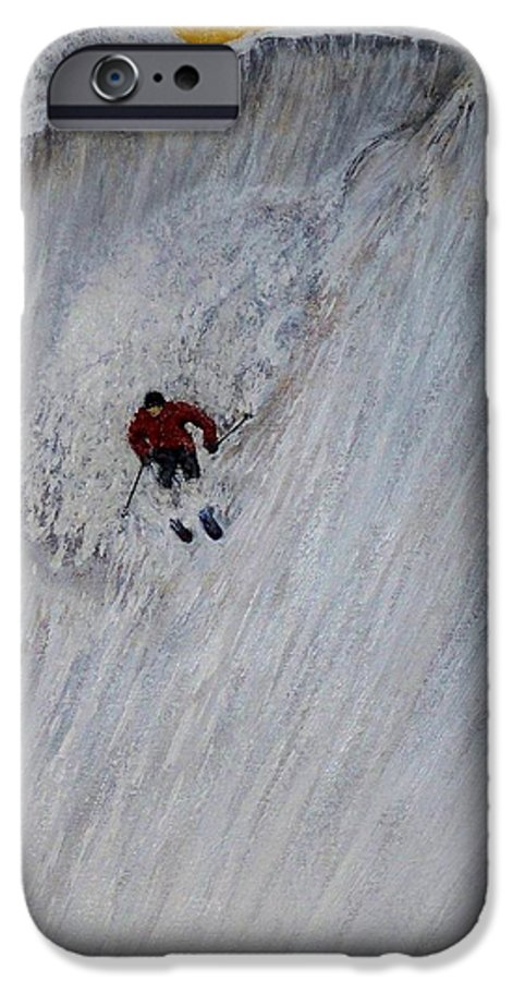 Landscape IPhone 6 Case featuring the painting Skitilthend by Michael Cuozzo