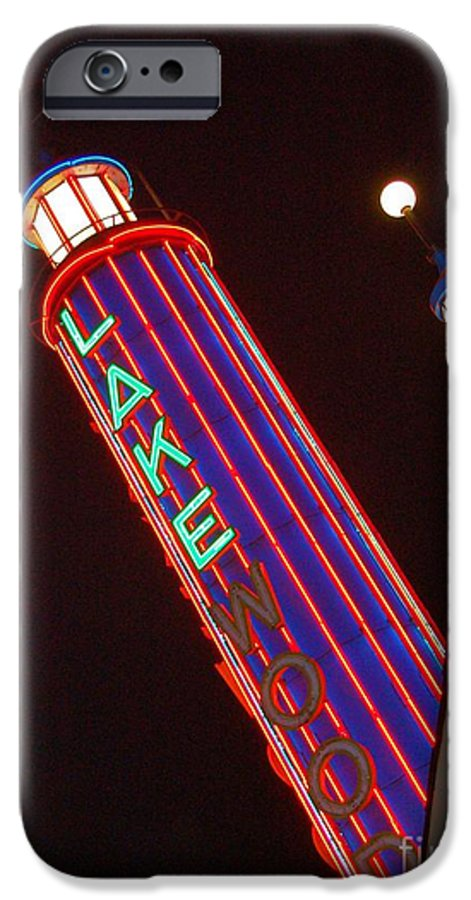 Neon IPhone 6 Case featuring the photograph Sky Lights by Debbi Granruth