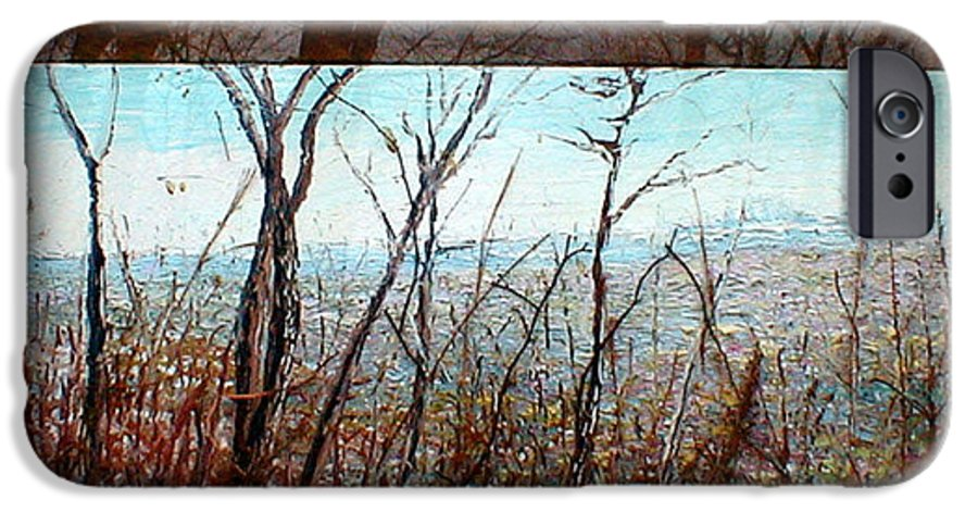 Landscape IPhone 6 Case featuring the painting Skyline by J E T I I I