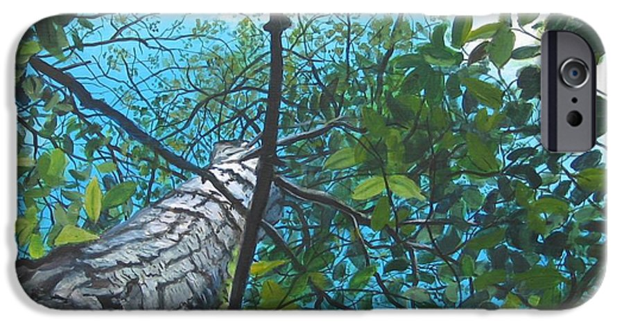 Landscape IPhone 6 Case featuring the painting Skyward by William Brody