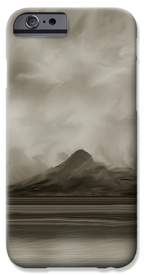 Wyoming IPhone 6 Case featuring the painting Sleeping Giant And Beck Lake by Anne Norskog