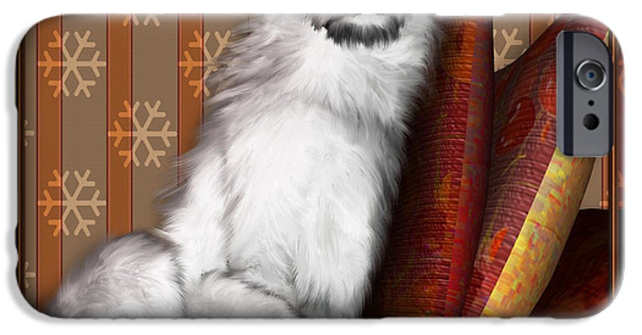 Dog IPhone 6 Case featuring the digital art Sleeping Iv by Nik Helbig