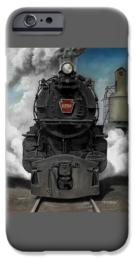 Trains IPhone 6 Case featuring the painting Smoke And Steam by David Mittner