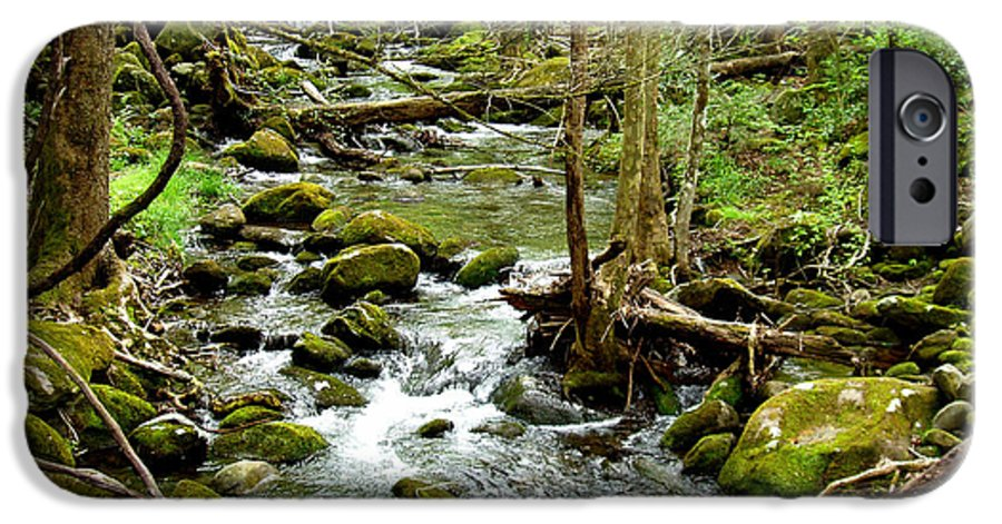 Smoky Mountains IPhone 6 Case featuring the photograph Smoky Mountain Stream 1 by Nancy Mueller
