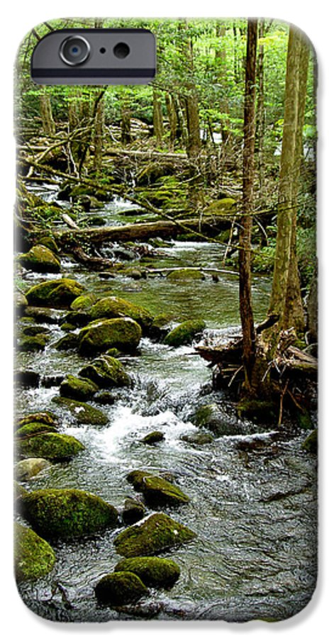 River IPhone 6 Case featuring the photograph Smoky Mountain Stream 2 by Nancy Mueller